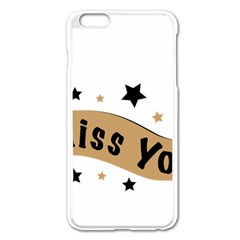 Lettering Miss You Banner Apple Iphone 6 Plus/6s Plus Enamel White Case by BangZart