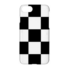 Grid Domino Bank And Black Apple Iphone 7 Hardshell Case