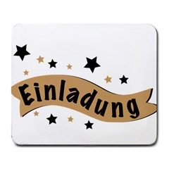Einladung Lettering Invitation Banner Large Mousepads by BangZart