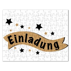 Einladung Lettering Invitation Banner Rectangular Jigsaw Puzzl by BangZart