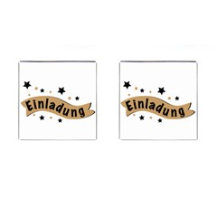 Einladung Lettering Invitation Banner Cufflinks (square) by BangZart