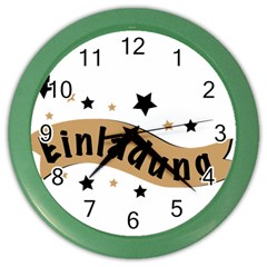 Einladung Lettering Invitation Banner Color Wall Clocks