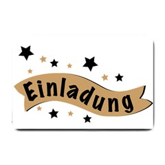 Einladung Lettering Invitation Banner Small Doormat  by BangZart