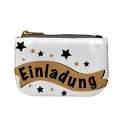 Einladung Lettering Invitation Banner Mini Coin Purses