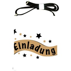 Einladung Lettering Invitation Banner Shoulder Sling Bags by BangZart