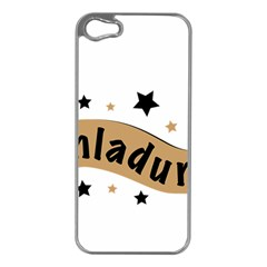 Einladung Lettering Invitation Banner Apple Iphone 5 Case (silver)
