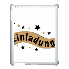 Einladung Lettering Invitation Banner Apple Ipad 3/4 Case (white) by BangZart