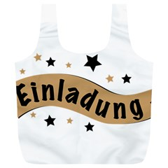 Einladung Lettering Invitation Banner Full Print Recycle Bags (l)  by BangZart