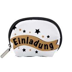 Einladung Lettering Invitation Banner Accessory Pouches (small)  by BangZart