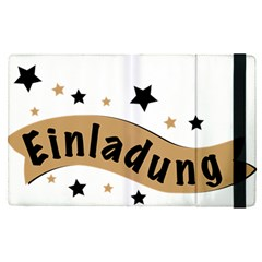 Einladung Lettering Invitation Banner Apple Ipad Pro 12 9   Flip Case by BangZart