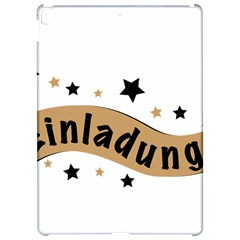 Einladung Lettering Invitation Banner Apple Ipad Pro 12 9   Hardshell Case by BangZart