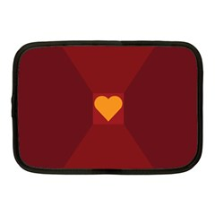 Heart Red Yellow Love Card Design Netbook Case (medium)  by BangZart