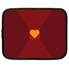 Heart Red Yellow Love Card Design Netbook Case (large) by BangZart