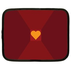 Heart Red Yellow Love Card Design Netbook Case (xxl)  by BangZart