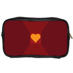 Heart Red Yellow Love Card Design Toiletries Bags by BangZart