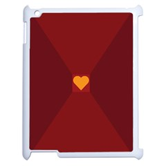 Heart Red Yellow Love Card Design Apple Ipad 2 Case (white)
