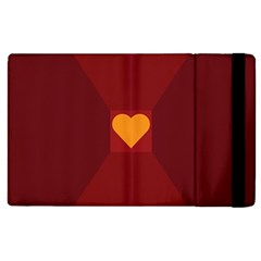 Heart Red Yellow Love Card Design Apple Ipad 2 Flip Case by BangZart