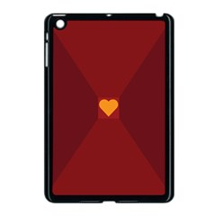Heart Red Yellow Love Card Design Apple Ipad Mini Case (black) by BangZart