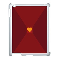Heart Red Yellow Love Card Design Apple Ipad 3/4 Case (white) by BangZart