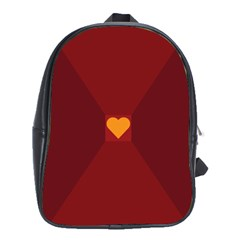 Heart Red Yellow Love Card Design School Bag (xl) by BangZart