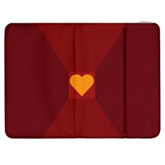 Heart Red Yellow Love Card Design Samsung Galaxy Tab 7  P1000 Flip Case by BangZart