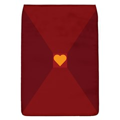 Heart Red Yellow Love Card Design Flap Covers (l)  by BangZart