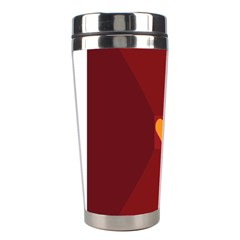 Heart Red Yellow Love Card Design Stainless Steel Travel Tumblers