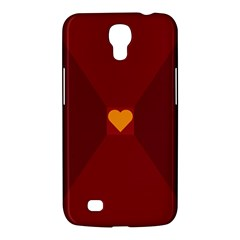 Heart Red Yellow Love Card Design Samsung Galaxy Mega 6 3  I9200 Hardshell Case