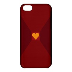 Heart Red Yellow Love Card Design Apple Iphone 5c Hardshell Case