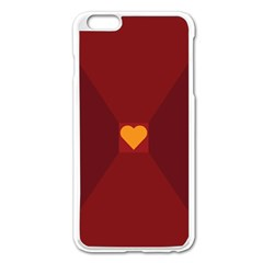 Heart Red Yellow Love Card Design Apple Iphone 6 Plus/6s Plus Enamel White Case