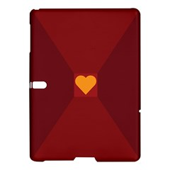 Heart Red Yellow Love Card Design Samsung Galaxy Tab S (10 5 ) Hardshell Case  by BangZart