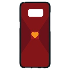Heart Red Yellow Love Card Design Samsung Galaxy S8 Black Seamless Case