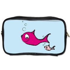 Fish Swarm Meeresbewohner Creature Toiletries Bags 2 Side by BangZart