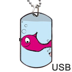 Fish Swarm Meeresbewohner Creature Dog Tag Usb Flash (one Side) by BangZart