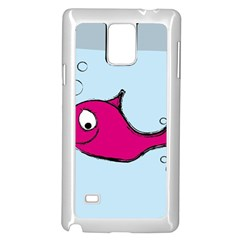 Fish Swarm Meeresbewohner Creature Samsung Galaxy Note 4 Case (white)
