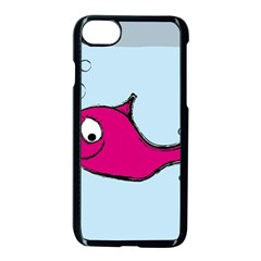 Fish Swarm Meeresbewohner Creature Apple Iphone 8 Seamless Case (black)