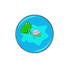 Frog Flower Lilypad Lily Pad Water Hat Clip Ball Marker (10 Pack)