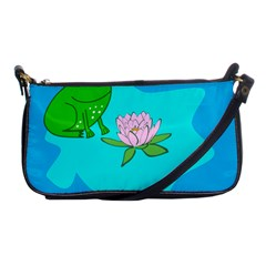 Frog Flower Lilypad Lily Pad Water Shoulder Clutch Bags by BangZart