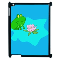 Frog Flower Lilypad Lily Pad Water Apple Ipad 2 Case (black)