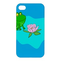 Frog Flower Lilypad Lily Pad Water Apple Iphone 4/4s Premium Hardshell Case