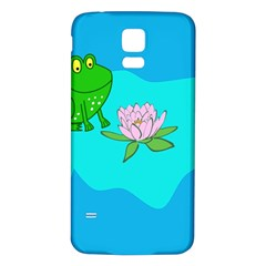 Frog Flower Lilypad Lily Pad Water Samsung Galaxy S5 Back Case (white)