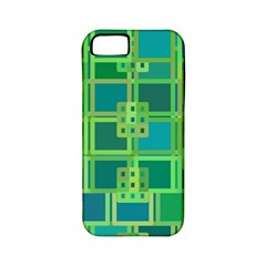 Green Abstract Geometric Apple Iphone 5 Classic Hardshell Case (pc+silicone)