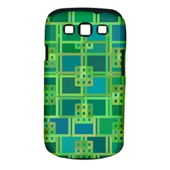 Green Abstract Geometric Samsung Galaxy S Iii Classic Hardshell Case (pc+silicone) by BangZart