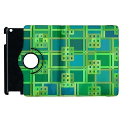 Green Abstract Geometric Apple Ipad 2 Flip 360 Case