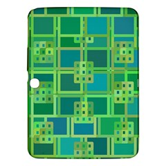 Green Abstract Geometric Samsung Galaxy Tab 3 (10 1 ) P5200 Hardshell Case