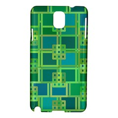 Green Abstract Geometric Samsung Galaxy Note 3 N9005 Hardshell Case