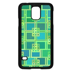 Green Abstract Geometric Samsung Galaxy S5 Case (black) by BangZart