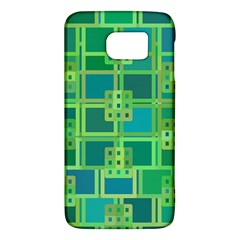 Green Abstract Geometric Galaxy S6