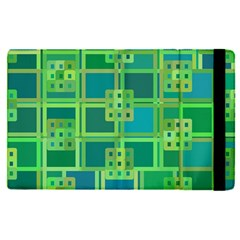 Green Abstract Geometric Apple Ipad Pro 12 9   Flip Case by BangZart