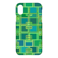 Green Abstract Geometric Apple Iphone X Hardshell Case